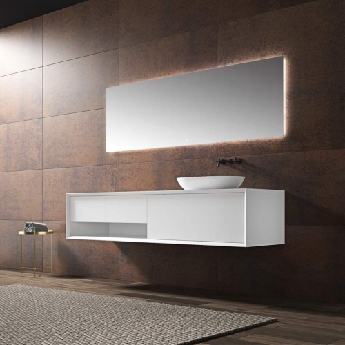 Single Counter Top Sink Wall Mounted Hanging Bathroom Vanity Cabinet WBL-2216