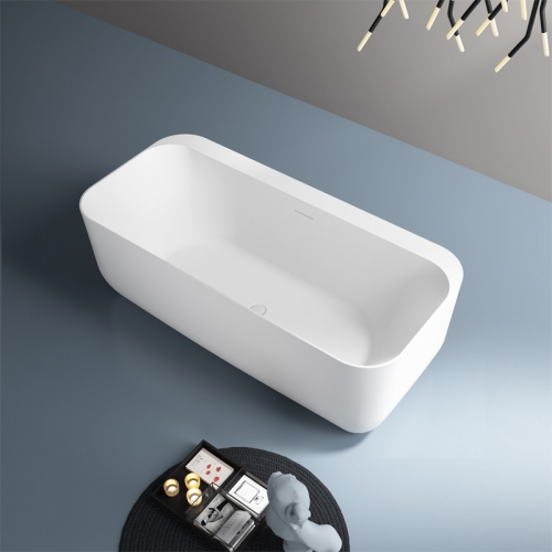 Rectangle Back To Wall Freestanding Acrylic Bathtub TW-7677