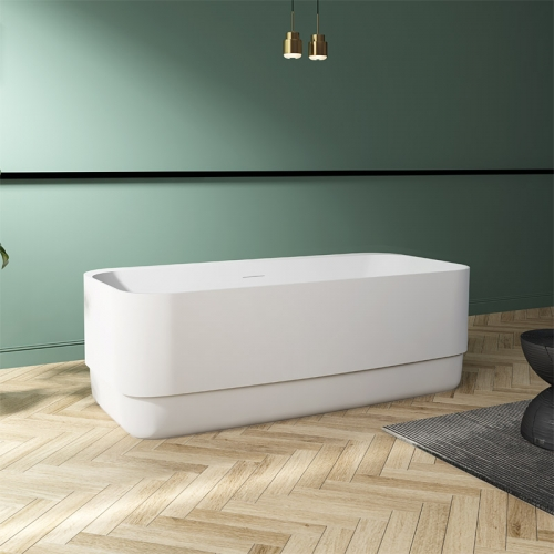 Rectangle Back To Wall Freestanding Acrylic Bathtub TW-7672