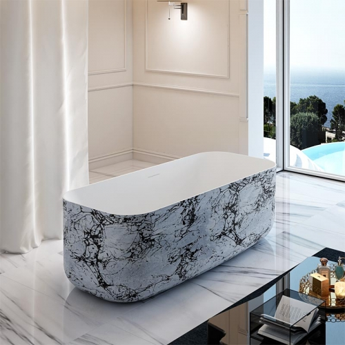 Top Rated Rectangle Freestanding Acrylic Bathtub TW-7692S