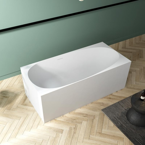 High End Rectangle Back To Wall Freestanding Acrylic Bathtub TW-7621