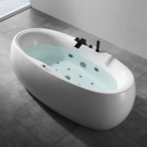 Freestanding Whirlpool Massage Function Acrylic Bathtubs XA-108