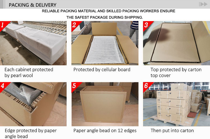 T&W Hanging Bathroom Cabinet packing and delivery