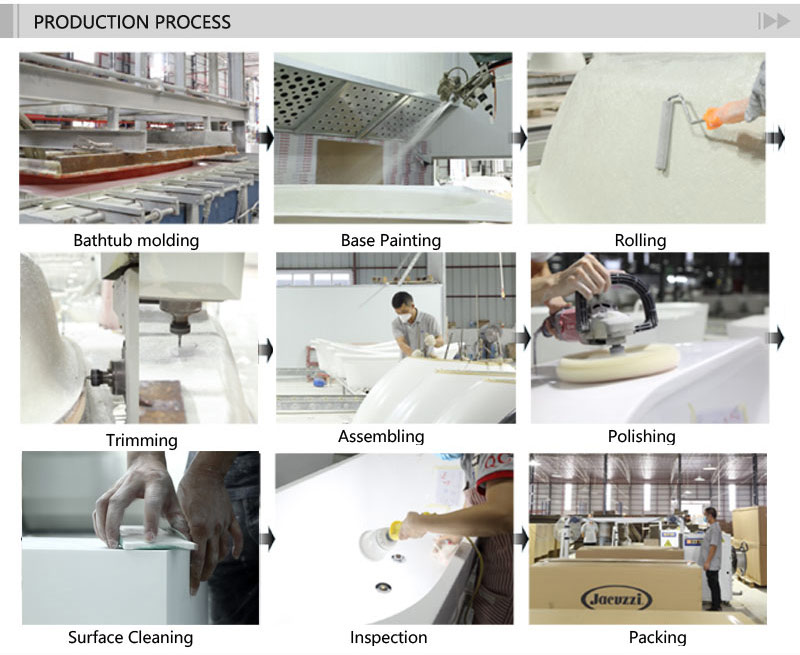 T&W Freestanding Acrylic Bathtub production process