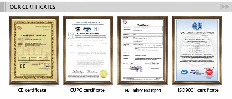 T&W Sanitary Ware Co., Ltd certificate