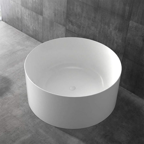 Round Freestanding Artificial Stone Bathtub XA-8878
