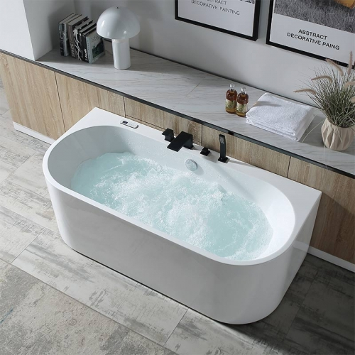 Freestanding Back To Wall Whirlpool Massage Function Acrylic Bathtubs XA-030
