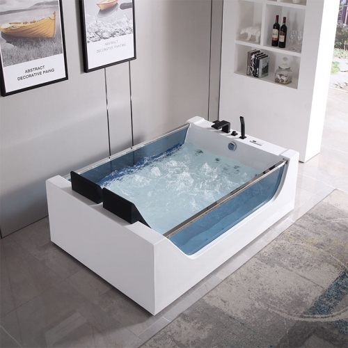 Freestanding 2 Person Whirlpool Massage Function Acrylic Bathtubs XA-010