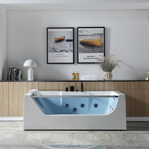 Freestanding Whirlpool Massage Function Acrylic Bathtubs XA-021