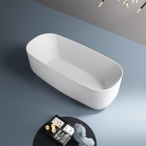 Best Quality Oval Freestanding Artificial Stone Bathtub TW-8676