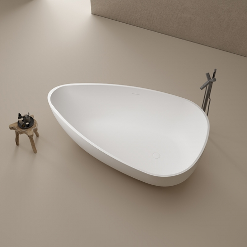Top Quality Oval Freestanding Artificial Stone Bathtub TW-8661