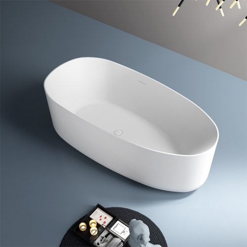 New Style Oval Freestanding Artificial Stone Bathtub TW-8678