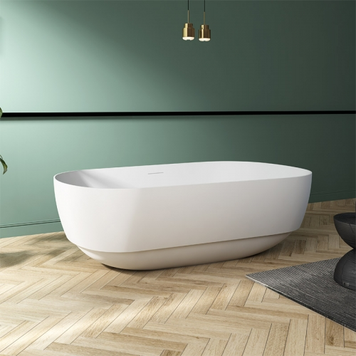 Hot Sale Large Oval Freestanding Artificial Stone Bathtub TW-8675
