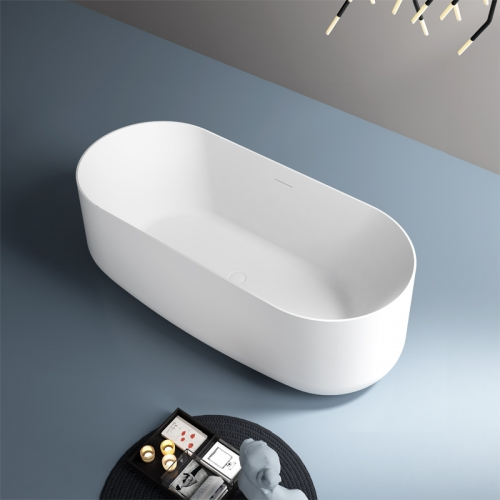 Oval Freestanding Hotel Artificial Stone Bathtub TW-8691