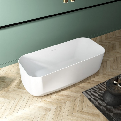 Top Rated Rectangle Freestanding Artificial Stone Bathtub TW-8692