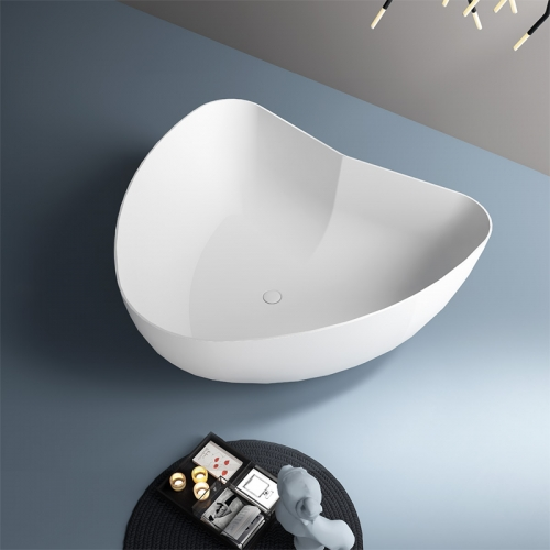 New Design Heart-shaped Freestanding Artificial Stone Bathtub TW-8663