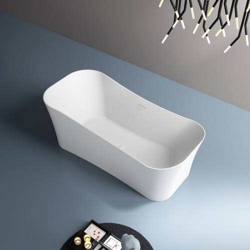 Unique Shape Rectangle Freestanding Artificial Stone Bathtub TW-8623