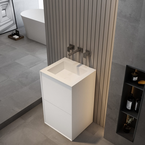 Rectangle Freestanding Pedestal Sink Bathroom Wash Basin TW-Z228
