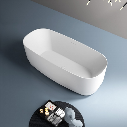 High Quality Oval Freestanding Artificial Stone Bathtub TW-8671