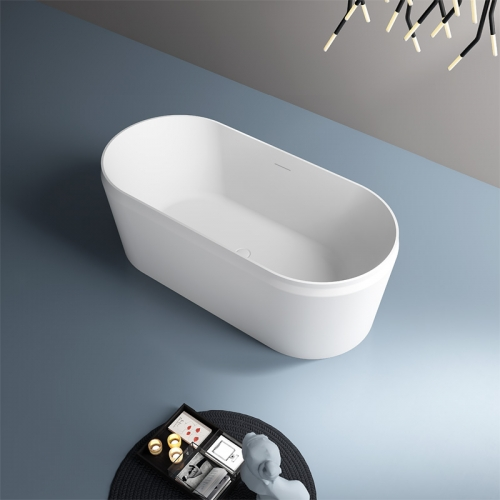 New Style Oval Freestanding Artificial Stone Bathtub TW-8631