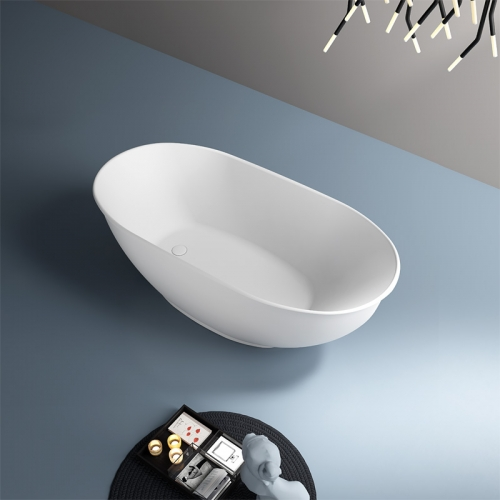Oval Freestanding Artificial Stone Bathtub TW-8651
