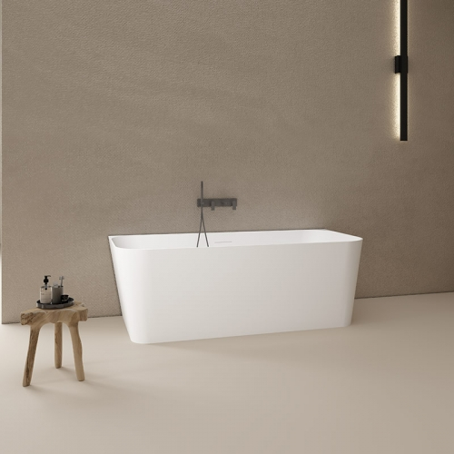 Bcak To Wall Freestanding Artificial Stone Bathtub TW-8622