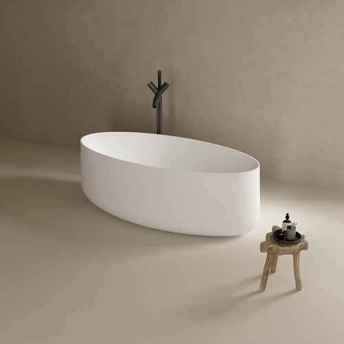 Large Oval Freestanding Solid Surface Bathtub TW-8693