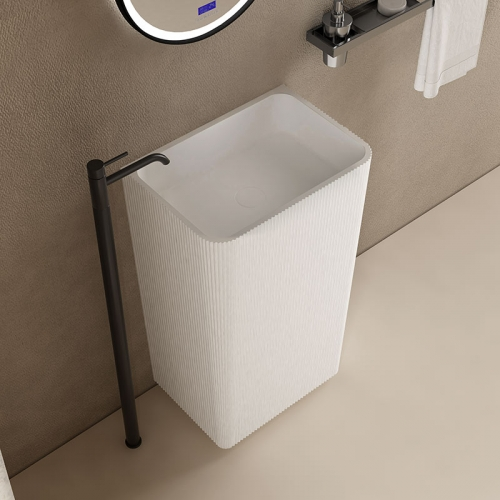 Rectangle Freestanding Pedestal Sink Bathroom Wash Basin TW-8686Z