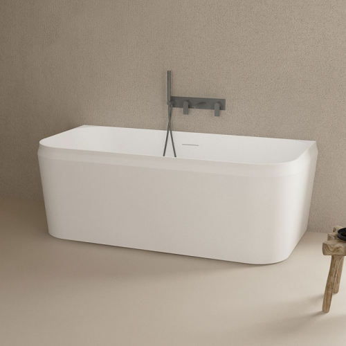 New Design Back To Wall Freestanding Solid Surface Bathtub TW-8636
