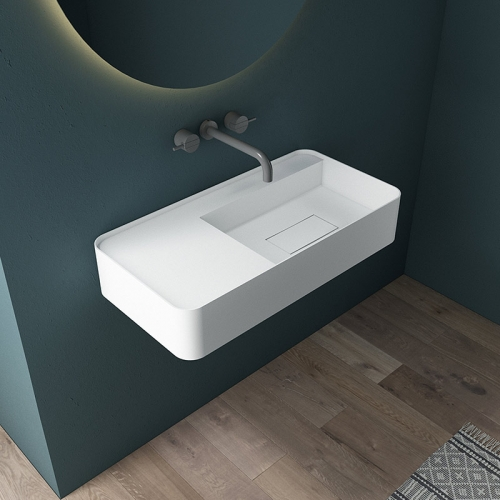 Wall-Mount Hung Artificial Stone Wash Basin Single Bathroom Sink TW-G822