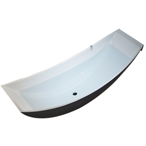 Freestanding Acrylic Hammock Bathtub New Unique Patented Floating Design TW-6866