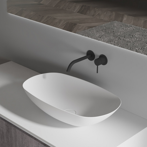 Oval Above Counter Top Artificial Stone Wash Basin TW-A108