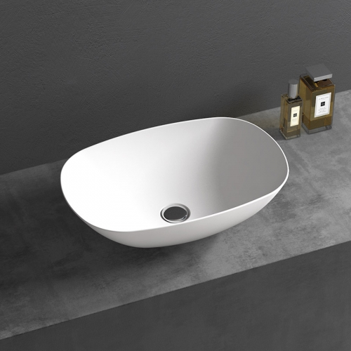Oval Above Counter Top Artificial Stone Wash Basin TW-A107
