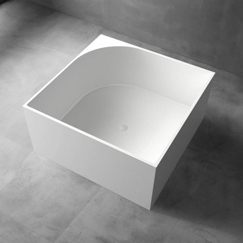Square Freestanding Artificial Stone Bathtub XA-8870