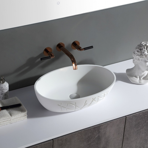 Oval Above counter top wash basin XA-A86