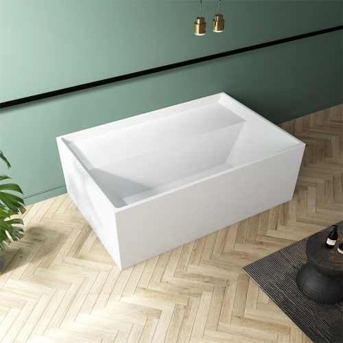Rectangle Freestanding Back To Wall Acrylic Bathtub TW-7669