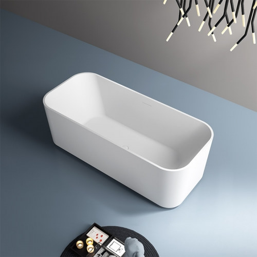 Best Selling Rectangle Freestanding Artificial Stone Bathtub TW-8616