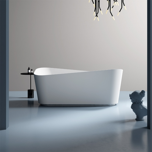 Rectangle Unique Design Freestanding Artificial Stone Bathtub TW-8615