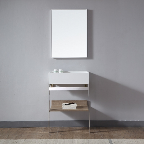 Console Sink With Shelf Floor Freestanding Bathroom Cabinet TW-2009