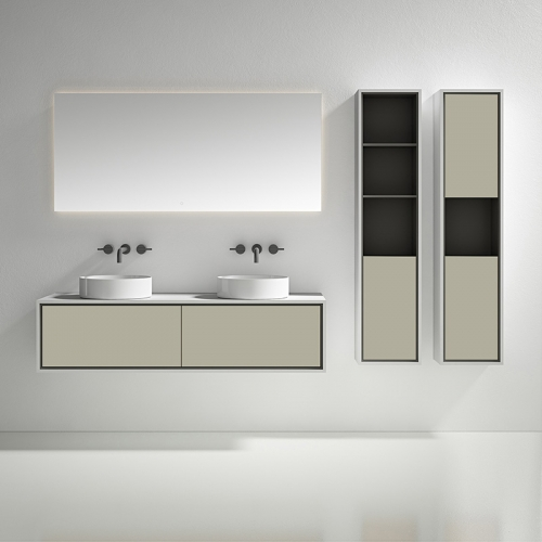 Double Counter Top Sink Wall Mounted Bathroom Cabinet WBL-0812