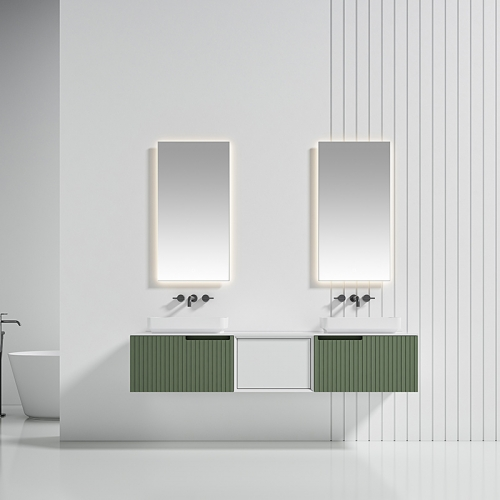 Double Counter Top Sink Wall Mounted Bathroom Cabinet WBL-6016