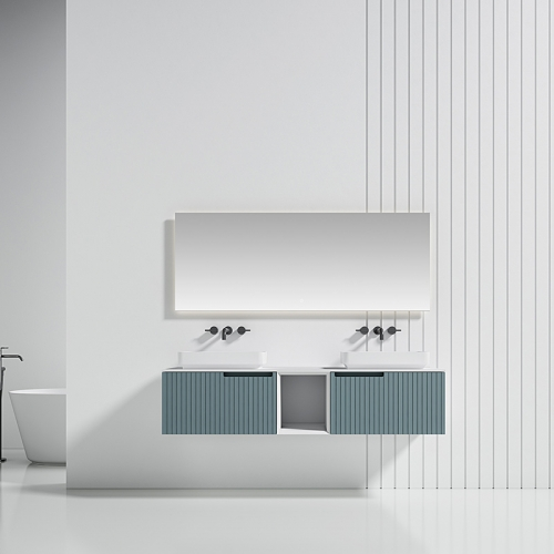 Double Counter Top Sink Wall Mounted Bathroom Cabinet WBL-6015