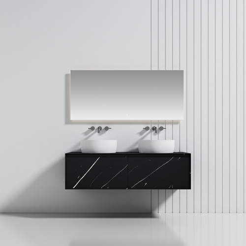 Double Counter Top Sink Floating Solid Surface Bathroom Vanity TW-5512