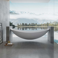 2021 Latest Patented Design Coolest Freestanding Acrylic Floating Hammock Bathtub TW-6699