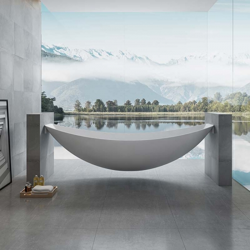 2021 Latest Patented Design Freestanding Acrylic Floating Hammock Bathtub TW-6699