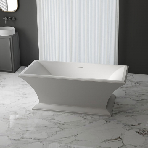 Rectangle American Style Pedestal Freestanding Acrylic Bathtub XA-197