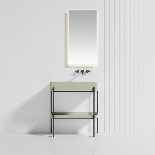 Console Sink With Shelf Freestanding Bathroom Cabinet WBL-9702