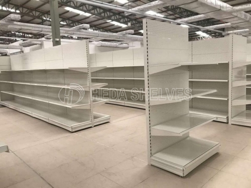 Modular supermarket shelves gondola