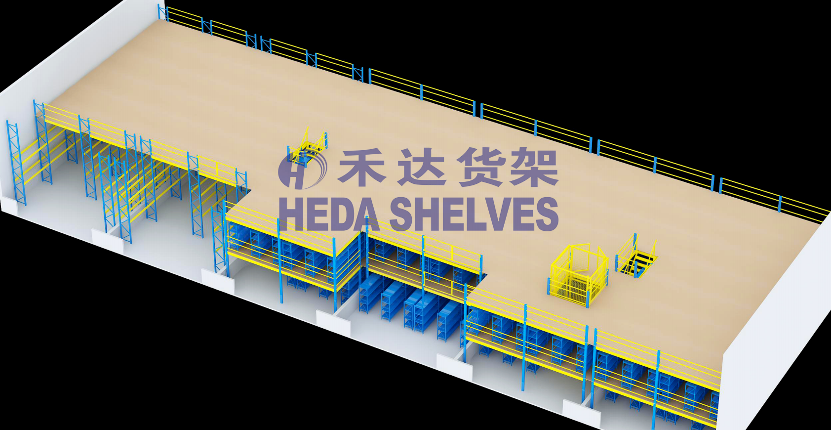 Warehouse Mezzanine Racking System for storage