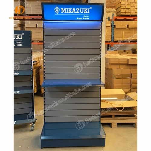 Custom Flat Advertising Head Perforated Metal Pegboard Tools Accessories Exhibition Display Stand